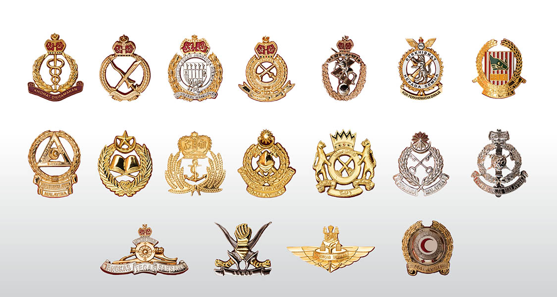 Metal Cap Badges